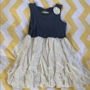 Girls denim dress size 5